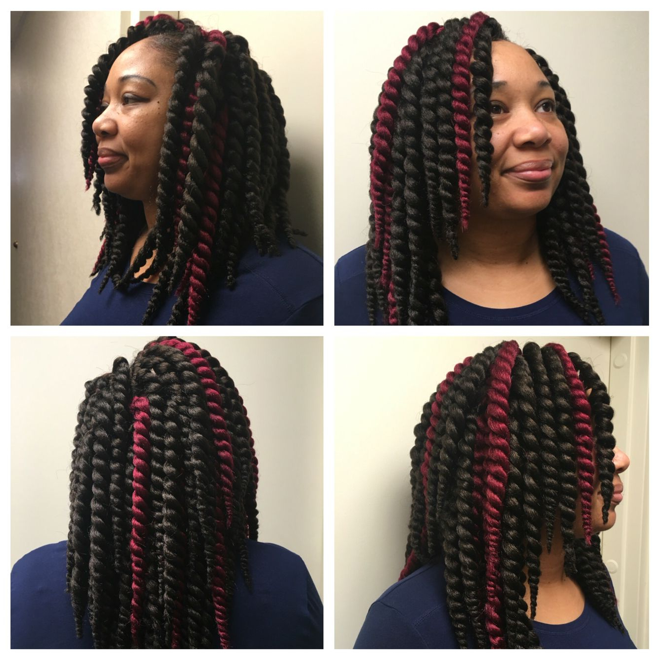 Featured Photo of Two Tone Twists Hairstyles With Beads