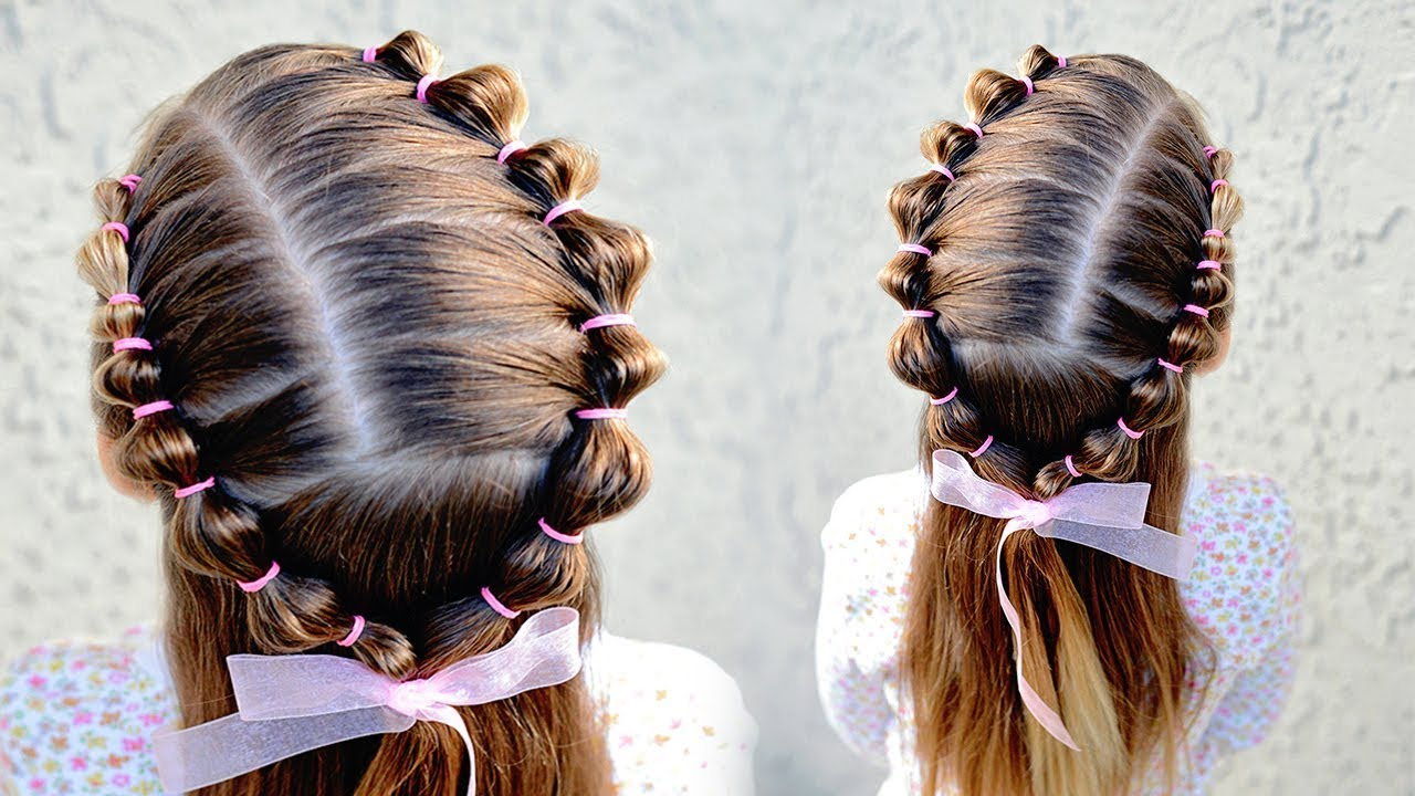 Toddler Hairstyle – Half Up Bubble Braid Throughout Preferred Bubble Braid Updo Hairstyles (View 19 of 20)