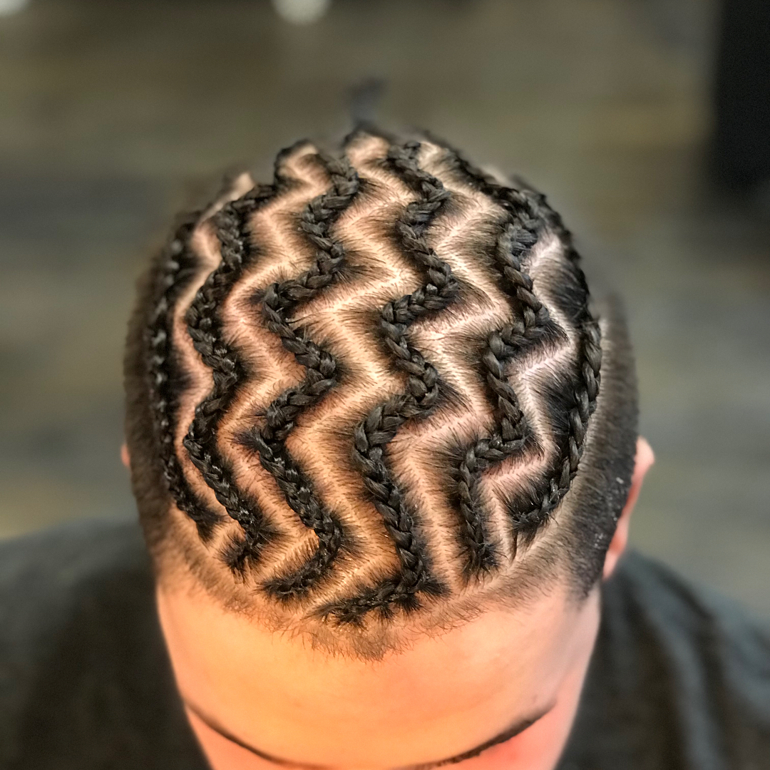 Top 28 Amazing Braids Hairstyles & Haircuts For Men's. Regarding Current Zig Zag Cornrows Braided Hairstyles (Gallery 8 of 20)