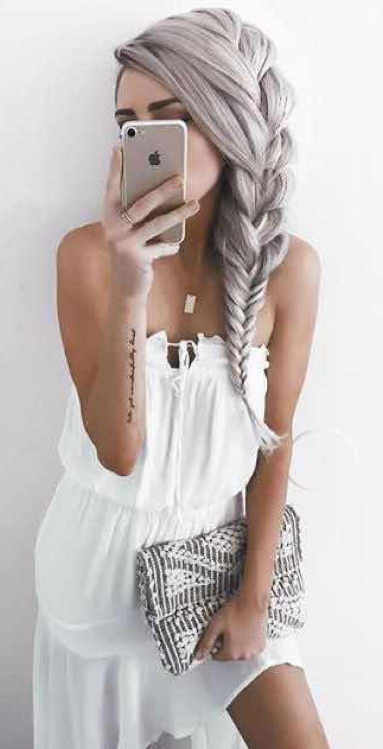 Trendy Billowing Ponytail Braided Hairstyles Within 47 Peinados Con Trenzas De Moda Que Te Encantarán ( (View 11 of 20)
