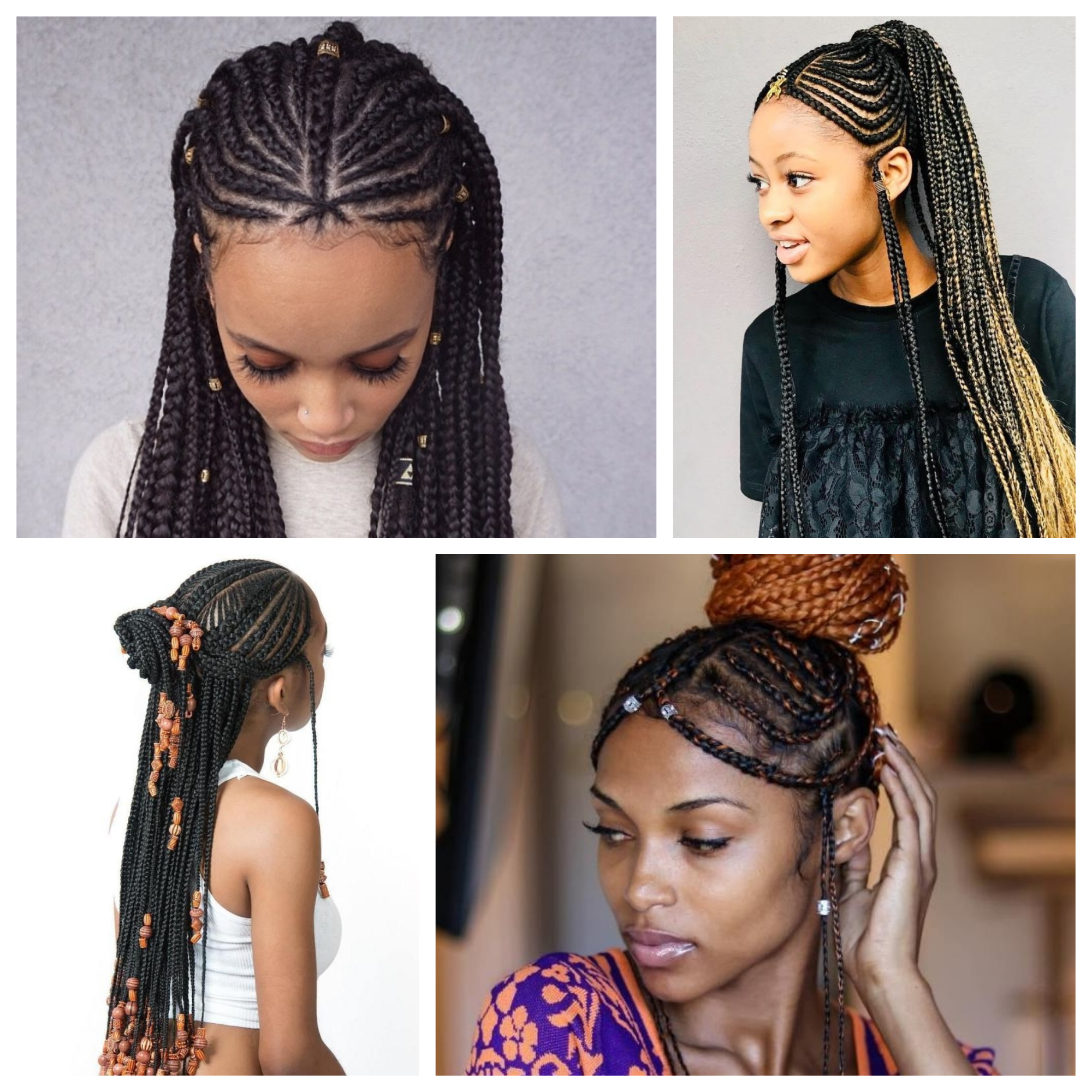 Trendy Braided Crown Hairstyles With Bright Beads With Regard To Braided Hairstyles (View 4 of 20)