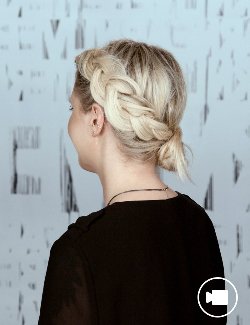 Trendy Chunky Crown Braided Hairstyles With Festival Hair Style: Crown Braid Updo (View 8 of 20)