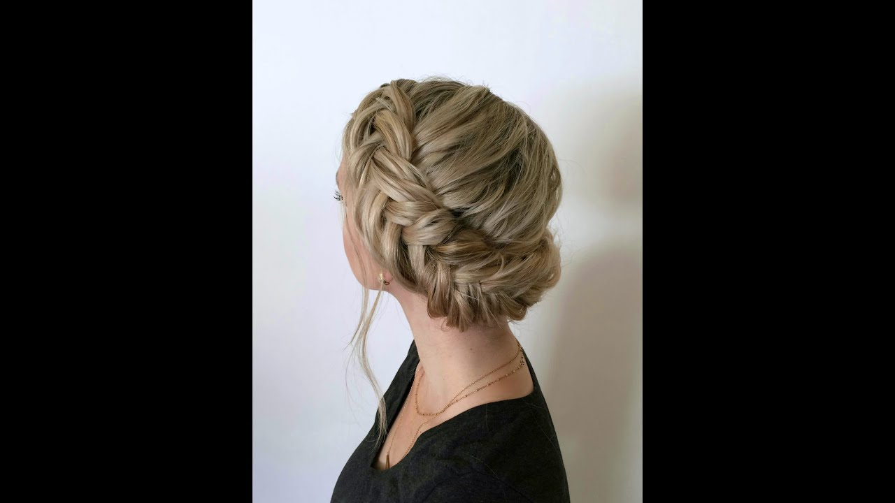 Trendy Chunky French Braid Chignon Hairstyles Inside Chunky Wrap Around Dutch Fishtail Braid (View 7 of 20)