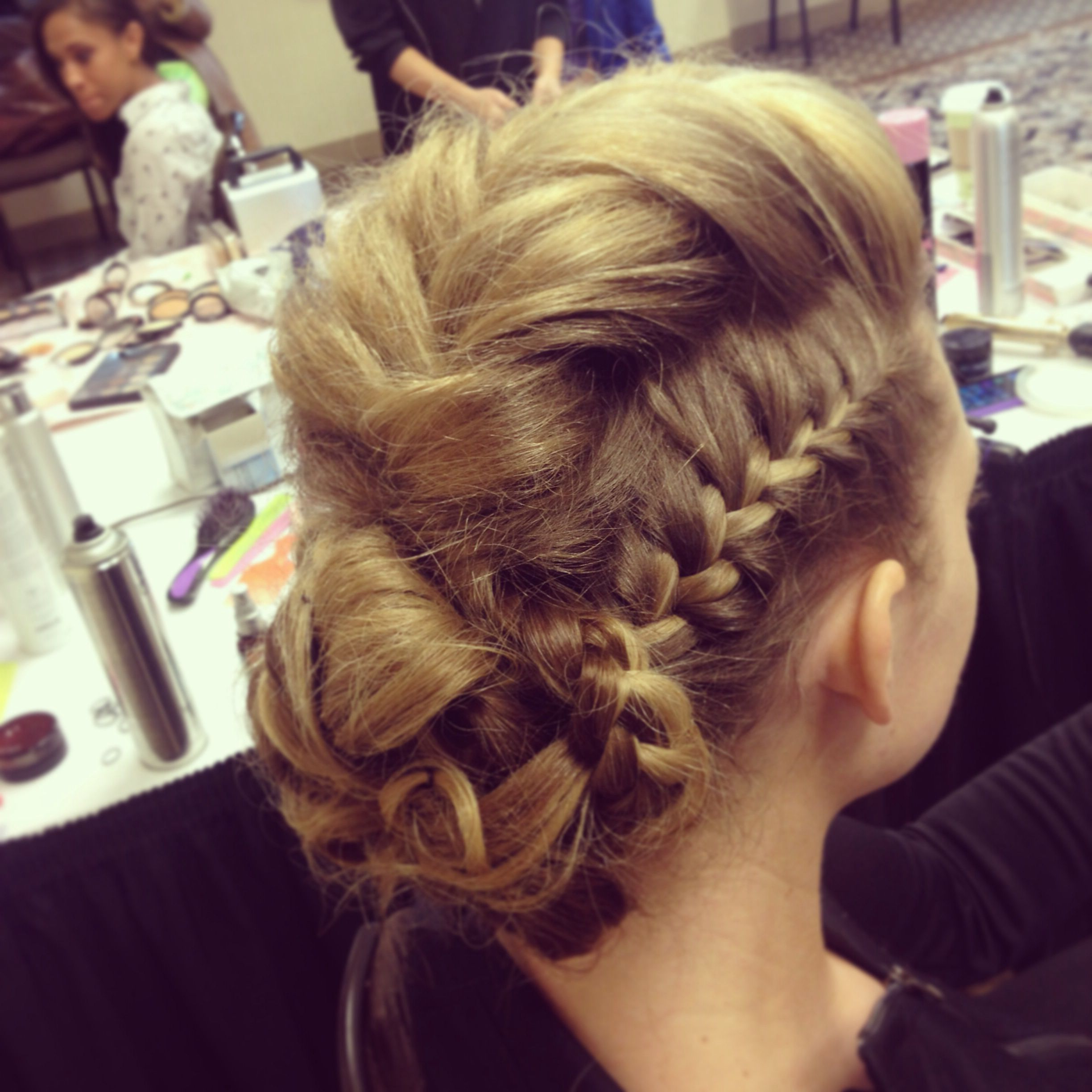 Trendy Cornrow Fishtail Side Braided Hairstyles In Braids! Bridal Updo With Braids (View 16 of 20)