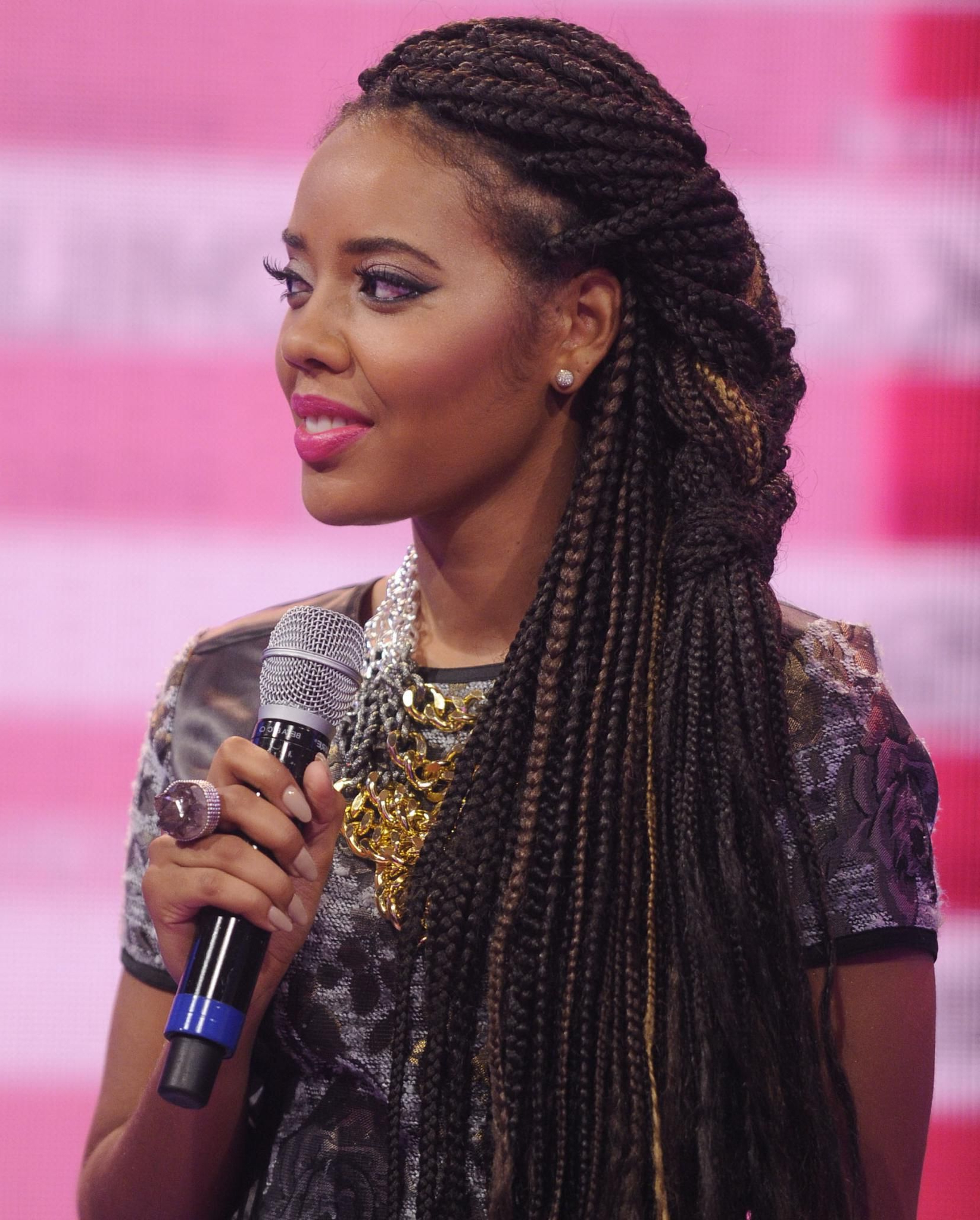 Trendy Dookie Braid Hairstyles With Blonde Highlights Inside Angela Simmons Rocks A Braided Style With Subtle Highlights (Gallery 9 of 20)