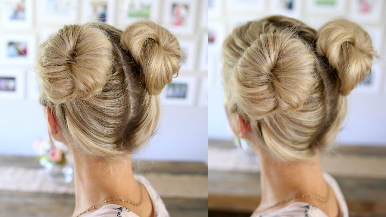 Trendy Double Mini Buns Updo Hairstyles Throughout 3 Easy Double Buns (View 2 of 20)