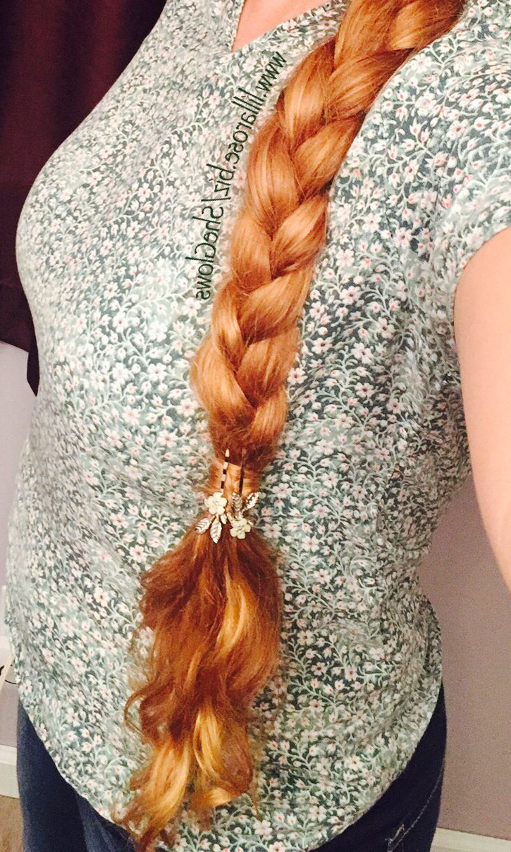 Trendy Golden Blonde Tiny Braid Hairstyles Inside Long Golden Blonde Hair In A Braid (View 3 of 20)