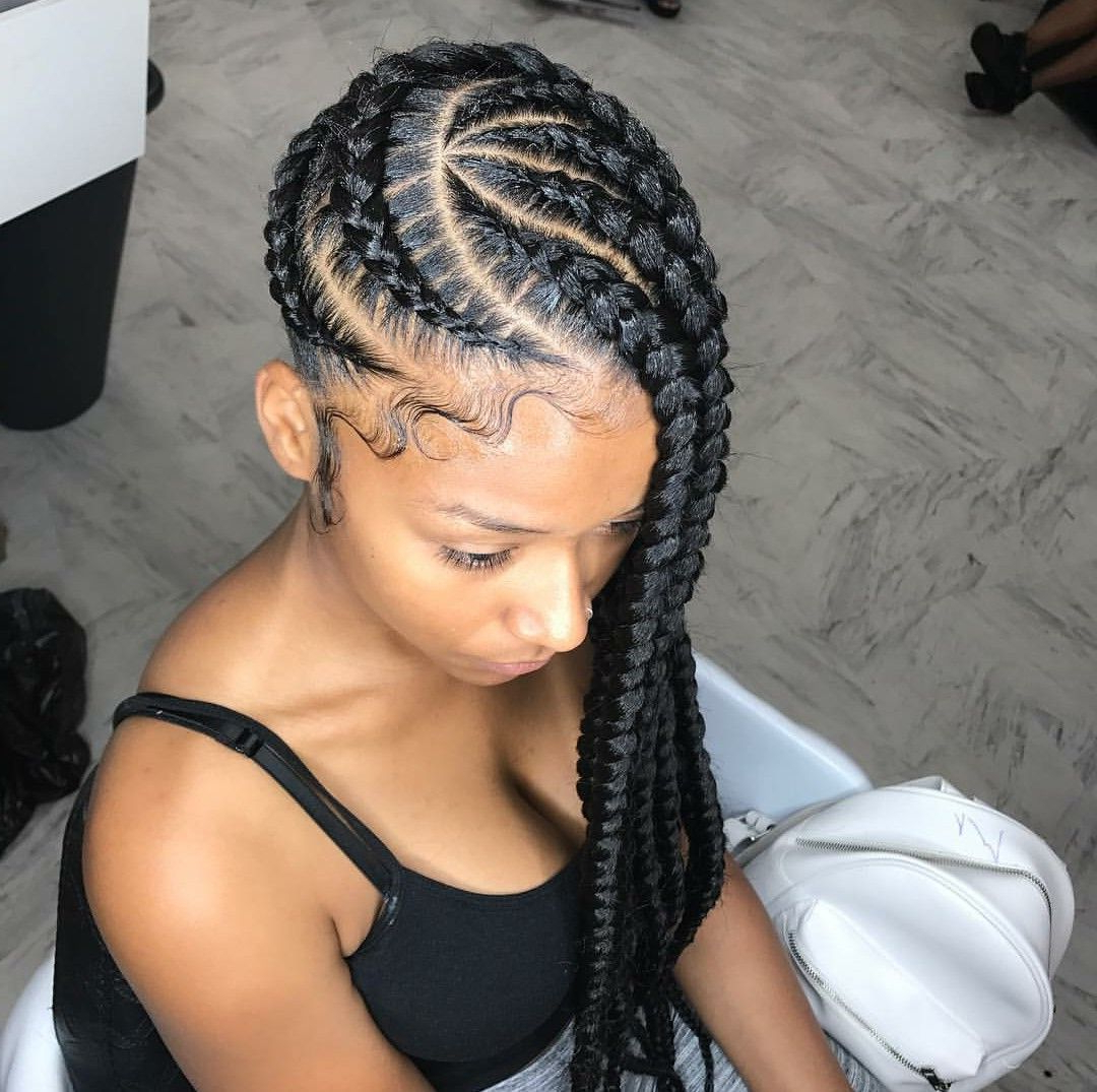 Trendy Golden Swirl Lemonade Braided Hairstyles With Cornrows Protective Cornrow Braided Hairstyle (View 20 of 20)