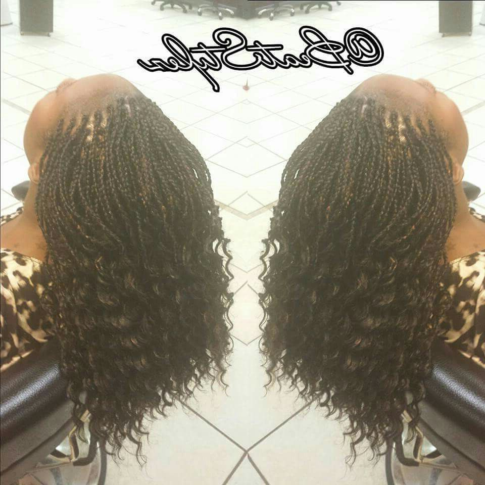 Trendy Highlighted Invisible Braids With Undone Ends Within Pin On Curls, Buns, Braids, Bobs, Knots, And Twists (View 19 of 20)