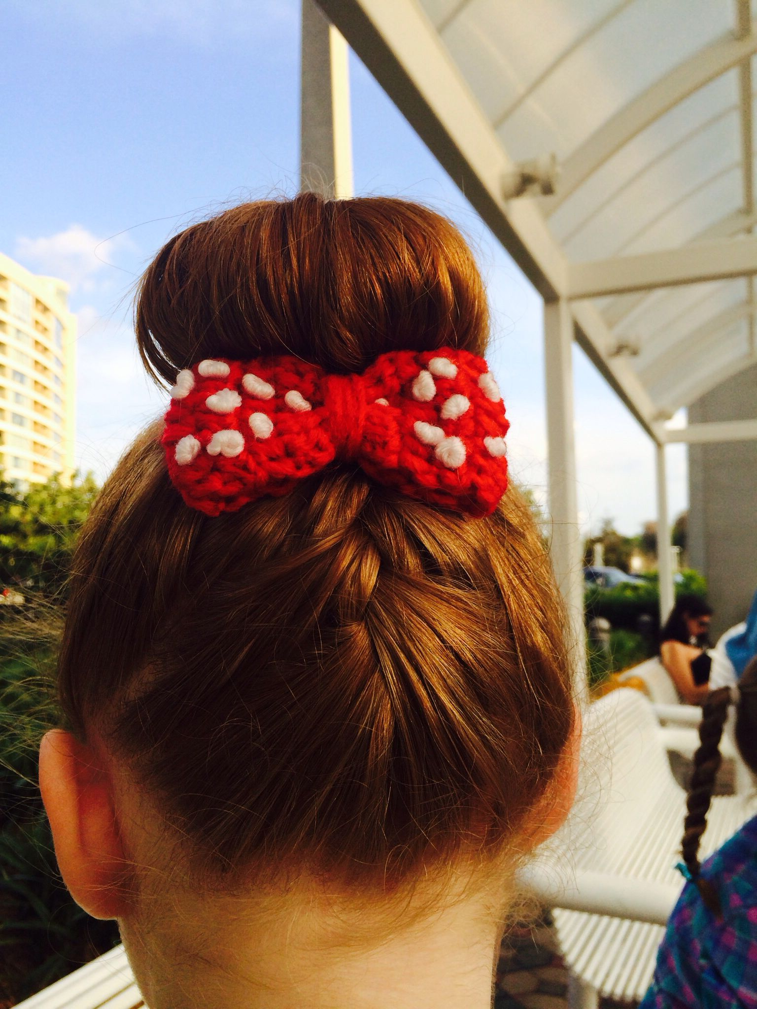 Trendy Minnie Mouse Buns Braid Hairstyles Regarding Ryleigh's Hair For Disney World (View 18 of 20)
