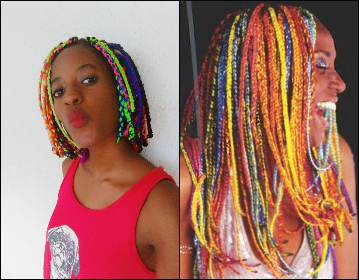 Trendy Multicolored Bob Braid Hairstyles In Colorido Tranças Da Caixa Do Arco Íris Você Vai Ficar (View 2 of 20)