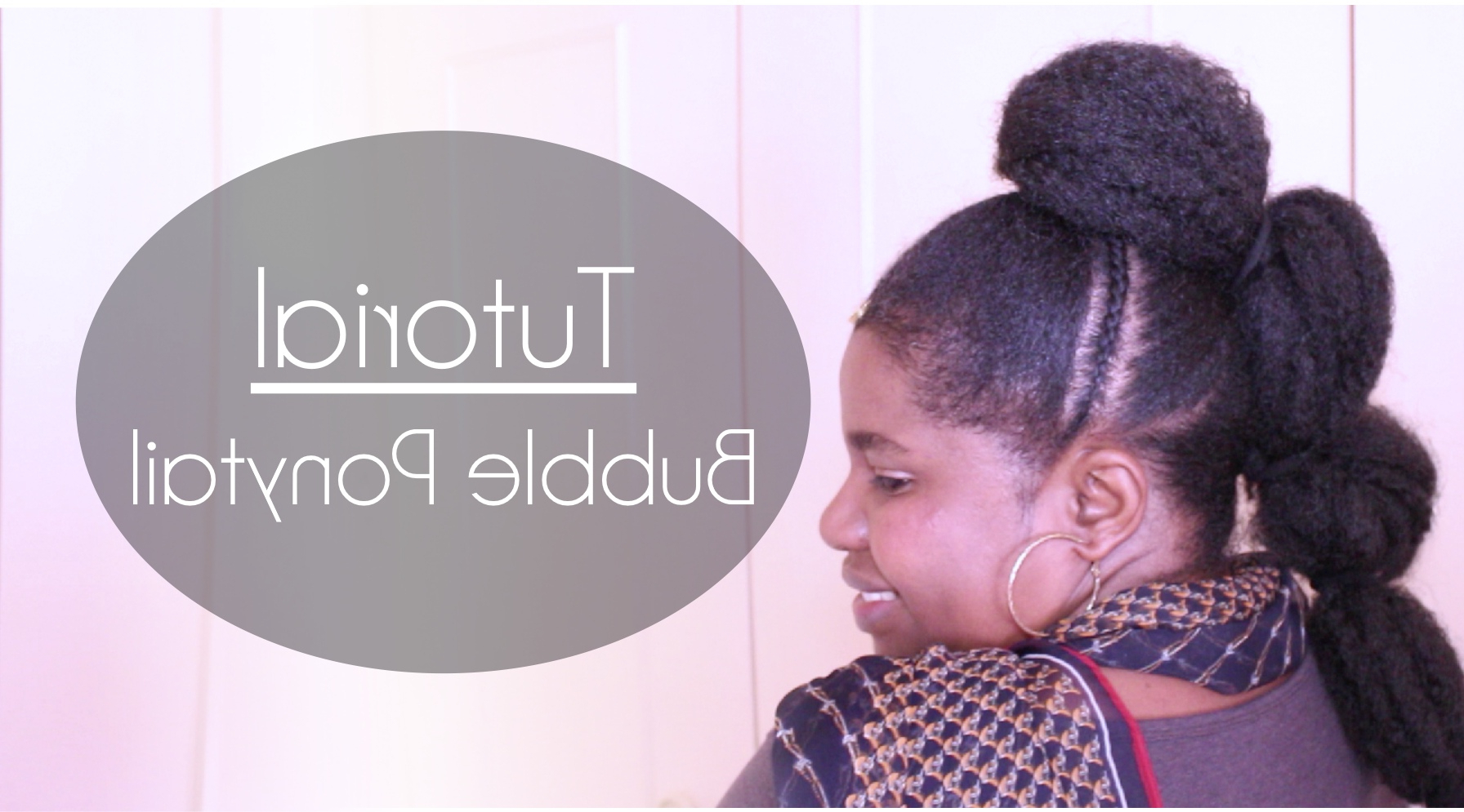 Trendy Natural Bubble Ponytail Updo Hairstyles Intended For Bubble Ponytail Tutorial – Natural Sisters – South African (View 14 of 20)