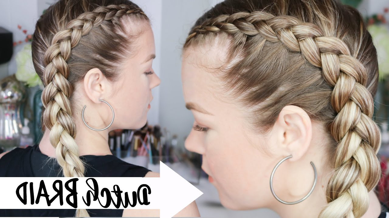 Trendy Side Pony And Raised Under Braid Hairstyles For How To Dutch Braid (View 11 of 20)