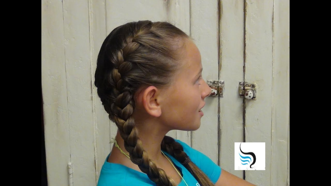 Trendy Thick Two Side Fishtails Braid Hairstyles Regarding How To Do Tight (double French Braid) Girls Hairstyles (View 17 of 20)