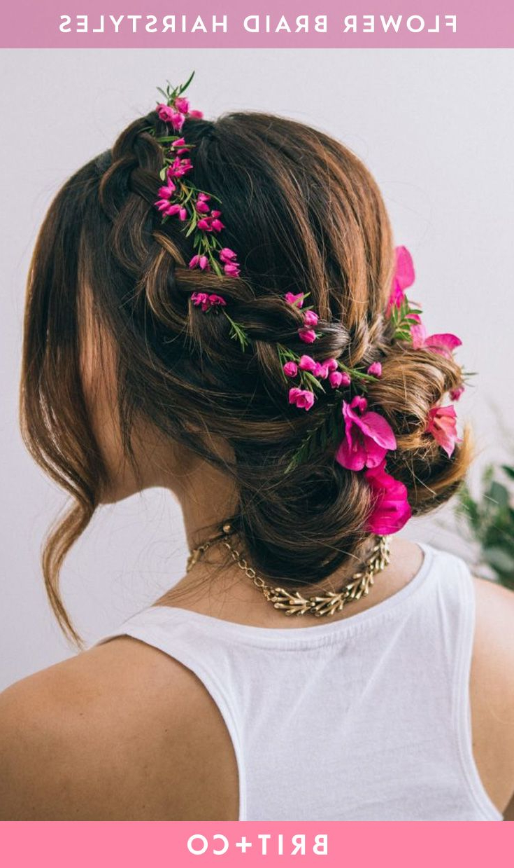 Trendy Traditional Halo Braided Hairstyles With Flowers Within I.pinimg/originals/62/38/f3/6238F3Ff35230029C4 (Gallery 9 of 20)