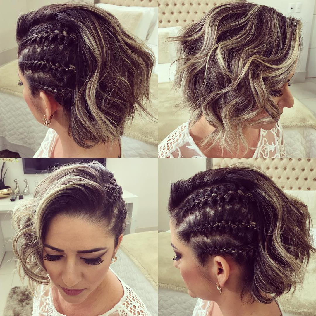 Trendy Updos For Short Hair: From Casual To Special Occasions Inside 2020 Angled Braided Hairstyles On Crimped Hair (View 19 of 20)
