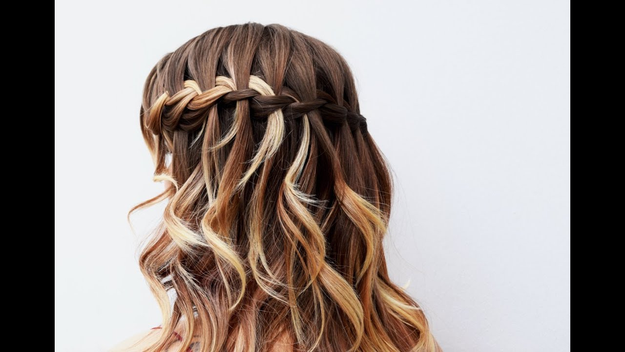 Trendy Waterfall Mermaid Braid Hairstyles Throughout Tutorial: How To Create A Beautiful Waterfall Braid (Gallery 18 of 20)