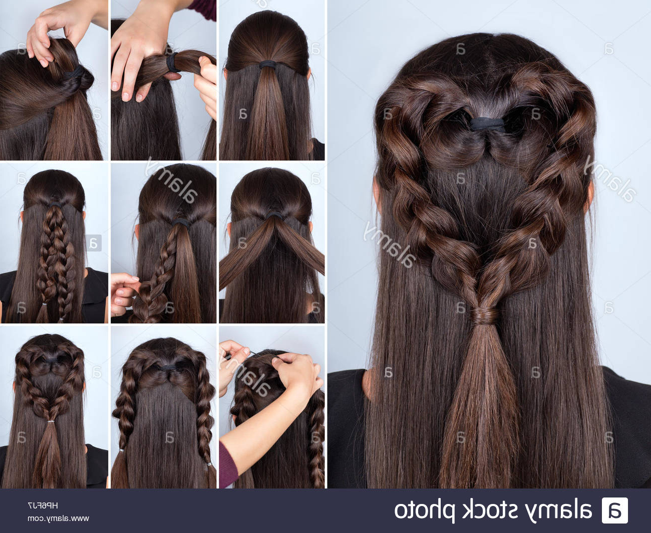 Trendy Whirlpool Braid Hairstyles Regarding Heart Hair Braid Stock Photos & Heart Hair Braid Stock (Gallery 17 of 20)