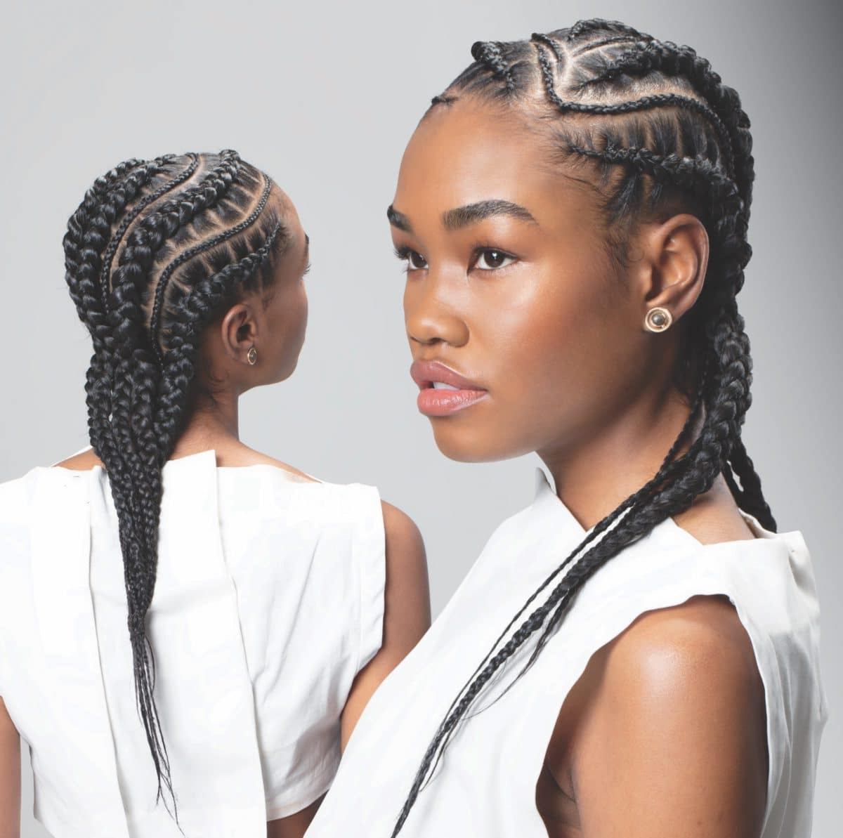 Tribal Tresses: The Beauty Of Our Braids Exceeds The In Latest Thin And Thick Cornrows Under Braid Hairstyles (Gallery 11 of 20)
