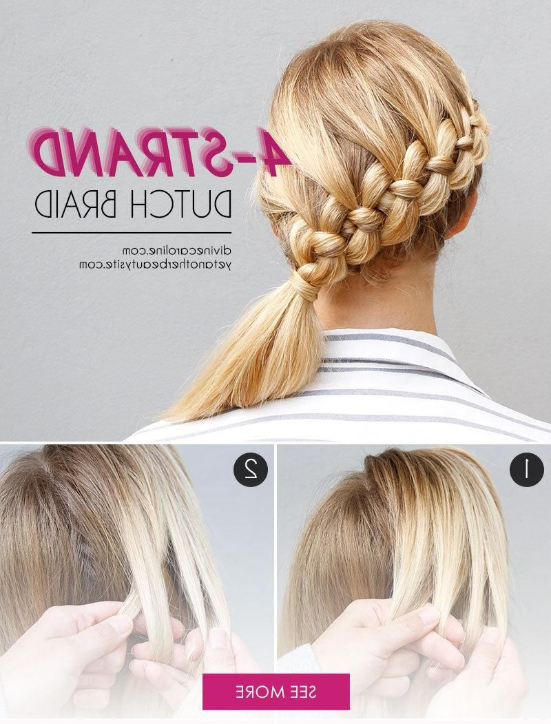 Try This! The Four Strand Braid Made Easy Ish (Gallery 15 of 20)