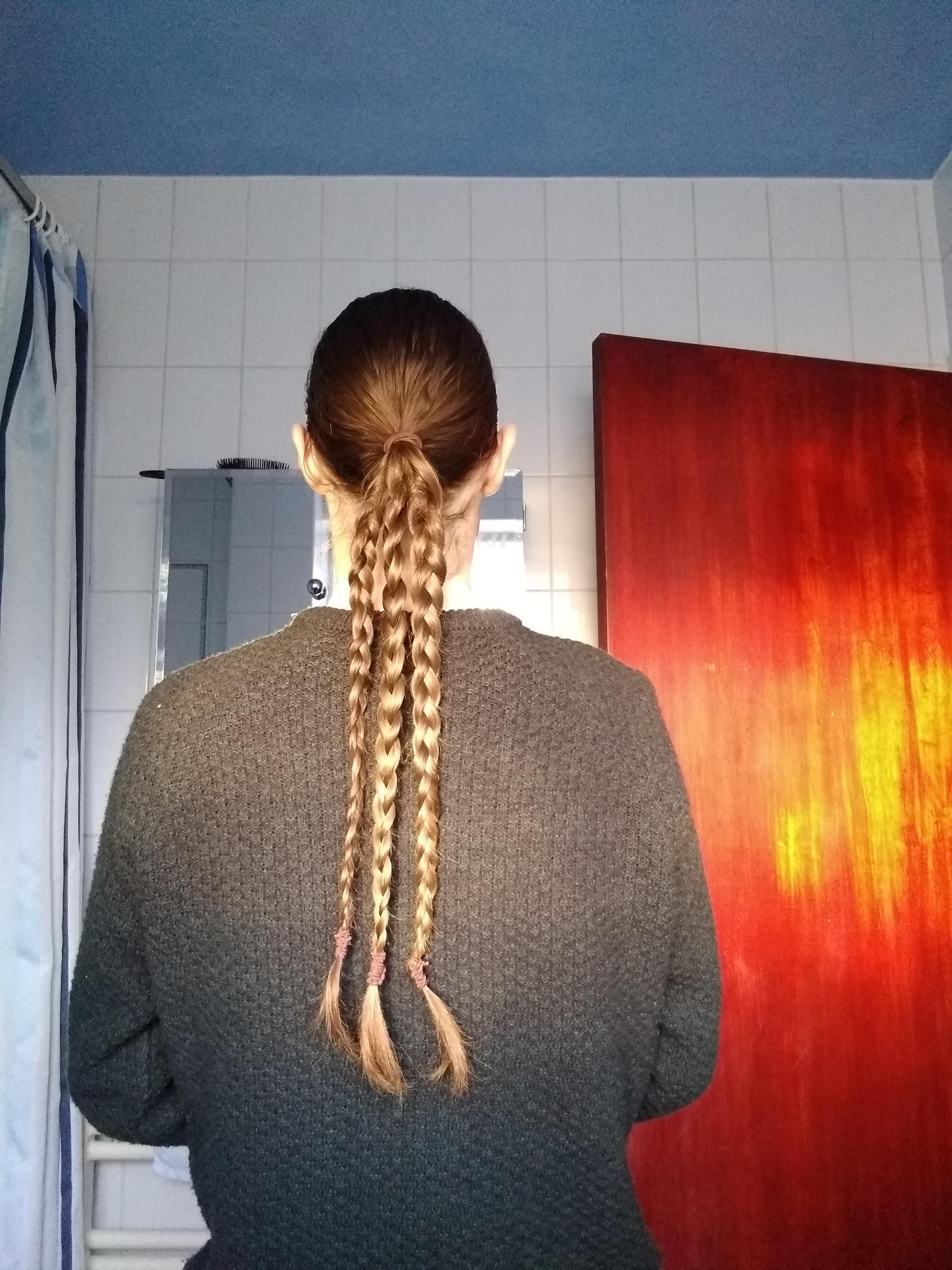 Trying Out Multiple Braids In My Ponytail, Quite Liking The Pertaining To Most Up To Date Billowing Ponytail Braided Hairstyles (Gallery 10 of 20)