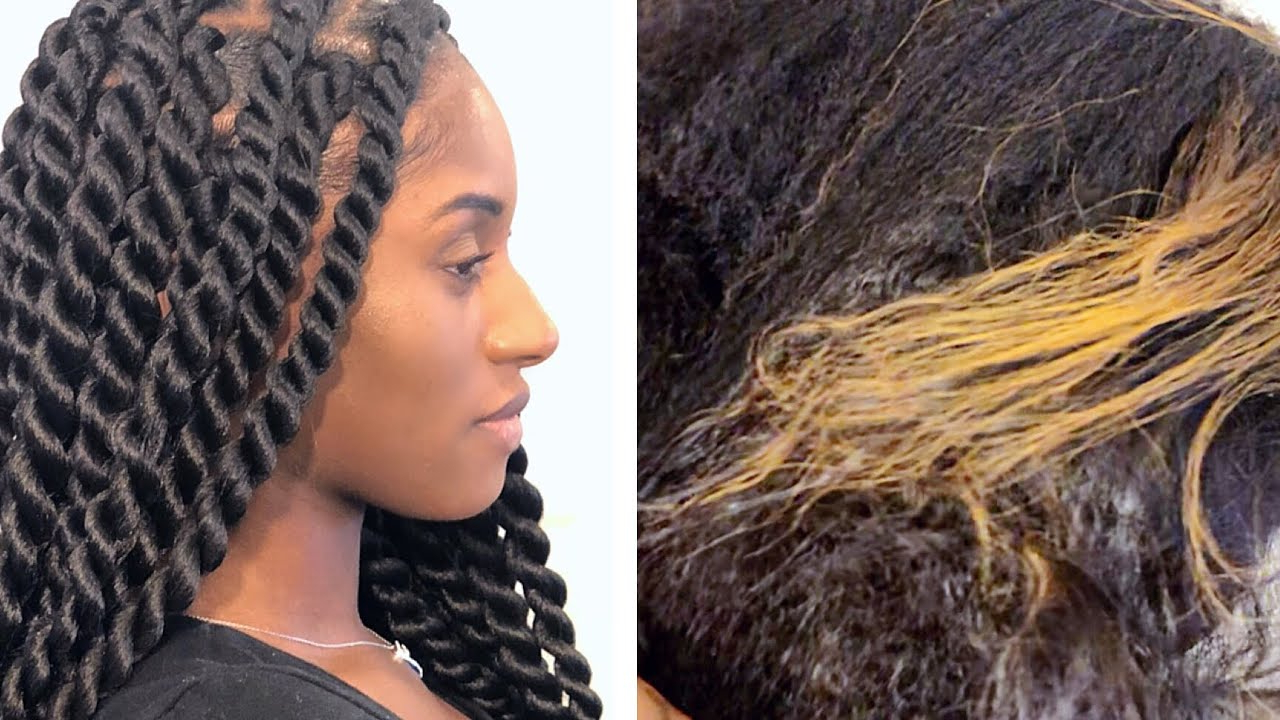 Tucking Method On Large Rope Twists (How To Hide Colored Hair) Within Most Recent Rope Twist Hairstyles With Straight Hair (Gallery 6 of 20)