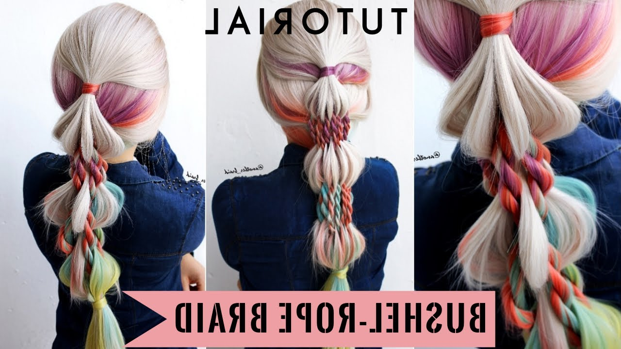 Tutorial For Long – Medium Length Hair Uniwigs Wig Pertaining To Preferred Pink Rope Braided Hairstyles (View 18 of 20)