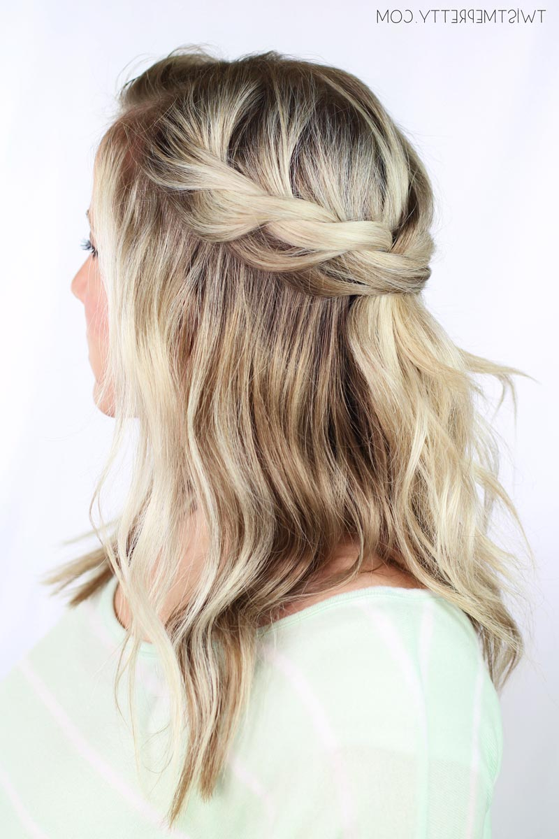Twisted Crown Braid Tutorial – Twist Me Pretty With Regard To Recent Partial Updo Rope Braids With Small Twists (Gallery 14 of 20)