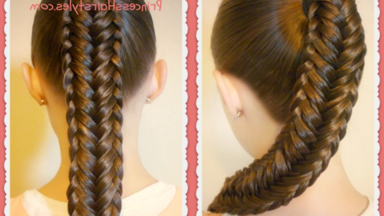 Twisted Edge Fishtail Braid, Hair Tutorial Inside Latest Twisted Mermaid Braid Hairstyles (View 5 of 20)