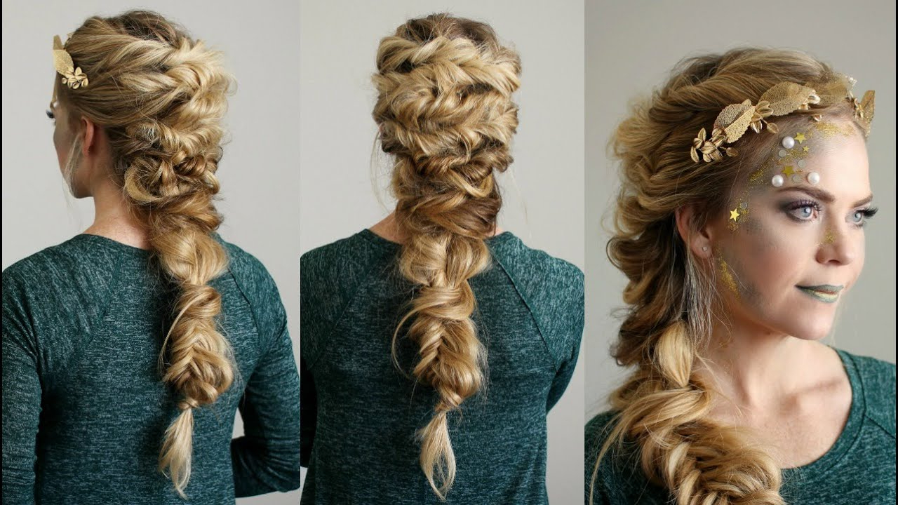 Twisted Mermaid Braid Throughout Fashionable Mermaid Braid Hairstyles With A Fishtail (Gallery 11 of 20)