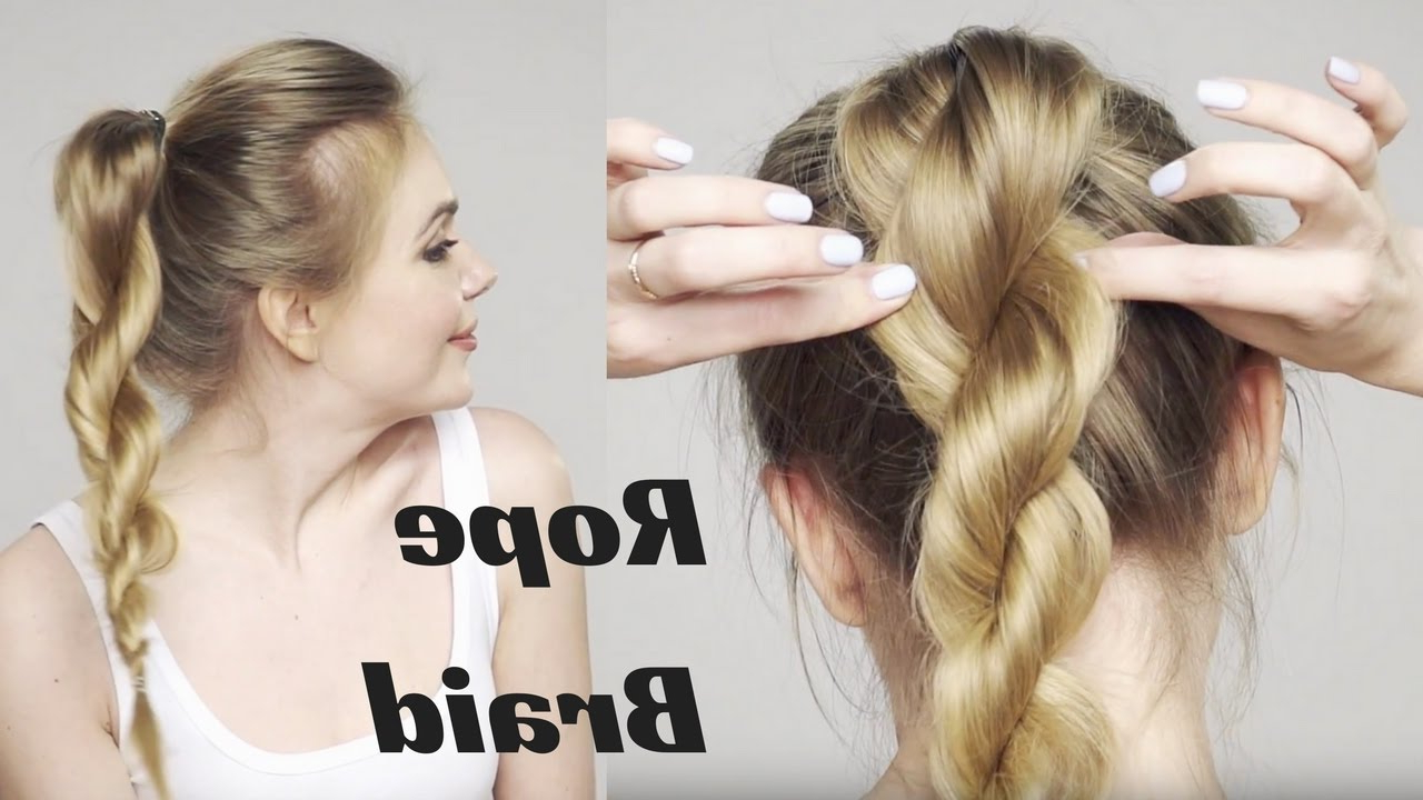 Twisted Ponytail Intended For Widely Used High Rope Braid Hairstyles (View 18 of 20)