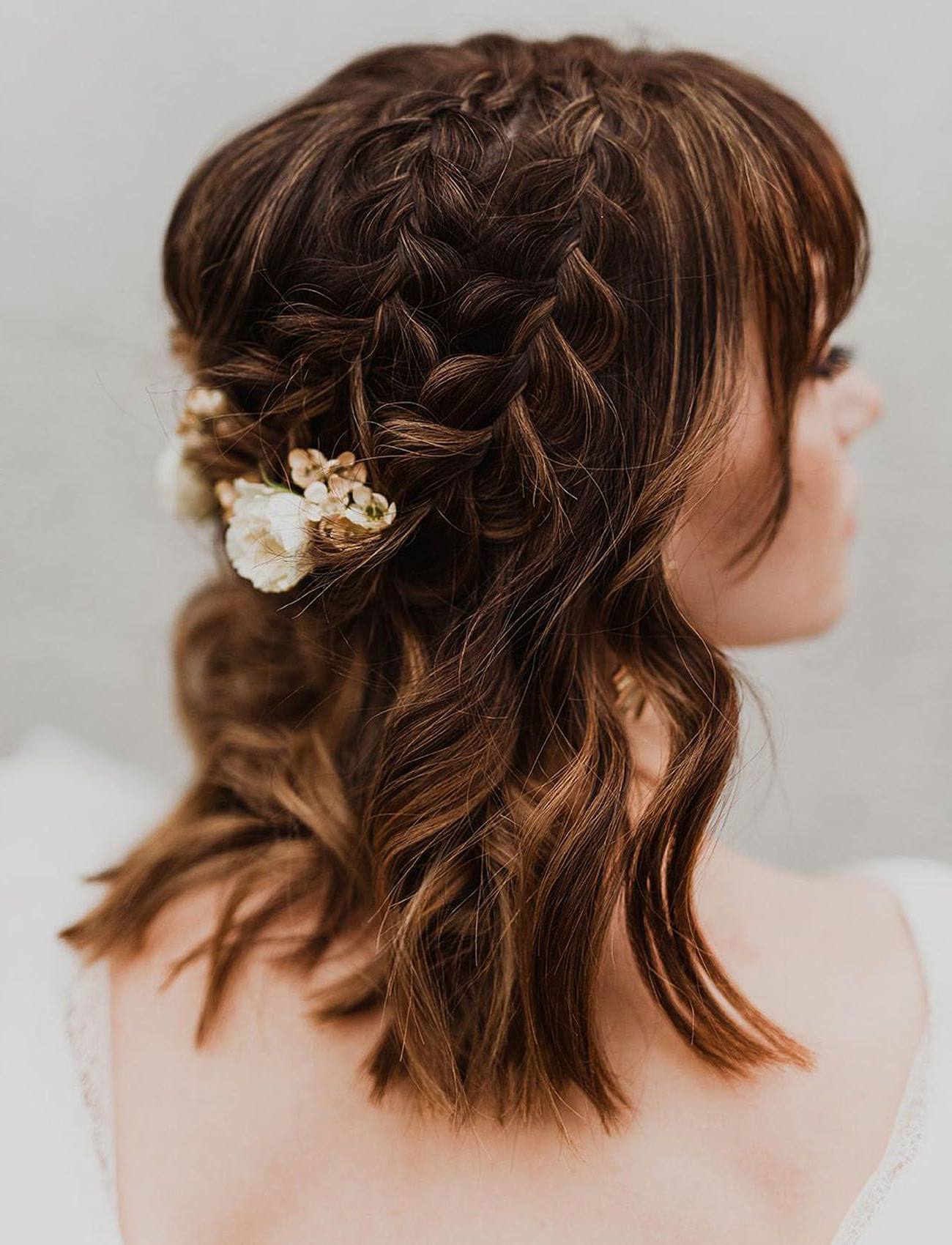 Uh Huh Honey: Modern Meets Vintage Mustard Hued Wedding With Regard To Recent Vintage Inspired Braided Updo Hairstyles (View 18 of 20)
