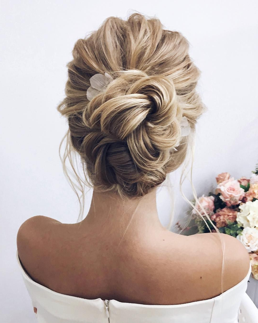 Unique Updo Hairstyle , High Bun Hairstyle ,prom Hairstyles With Regard To Latest High Bun Hairstyles With Braid (View 11 of 20)