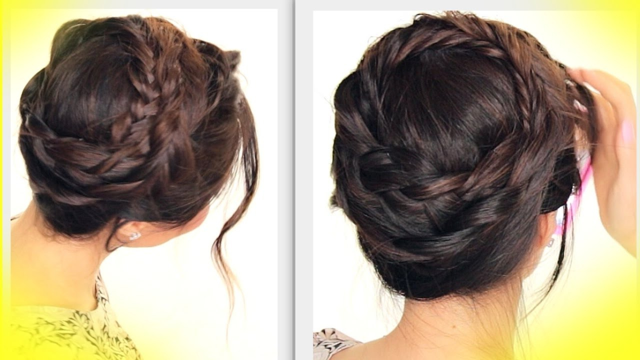 Updo Hairstyle Pertaining To Preferred Voluminous Halo Braided Hairstyles (View 19 of 20)
