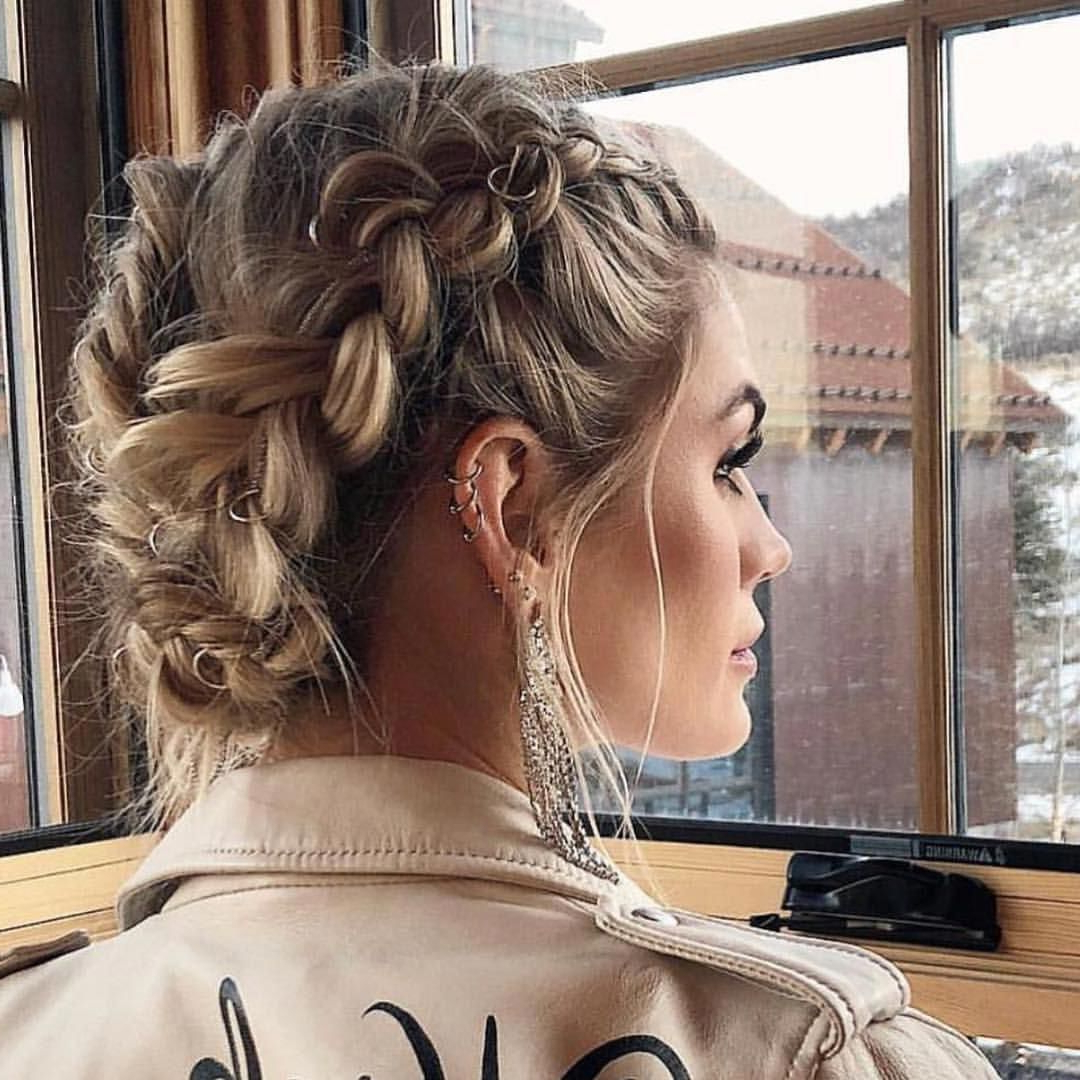 Updos Intended For Current Stacked Mini Buns Hairstyles (View 20 of 20)