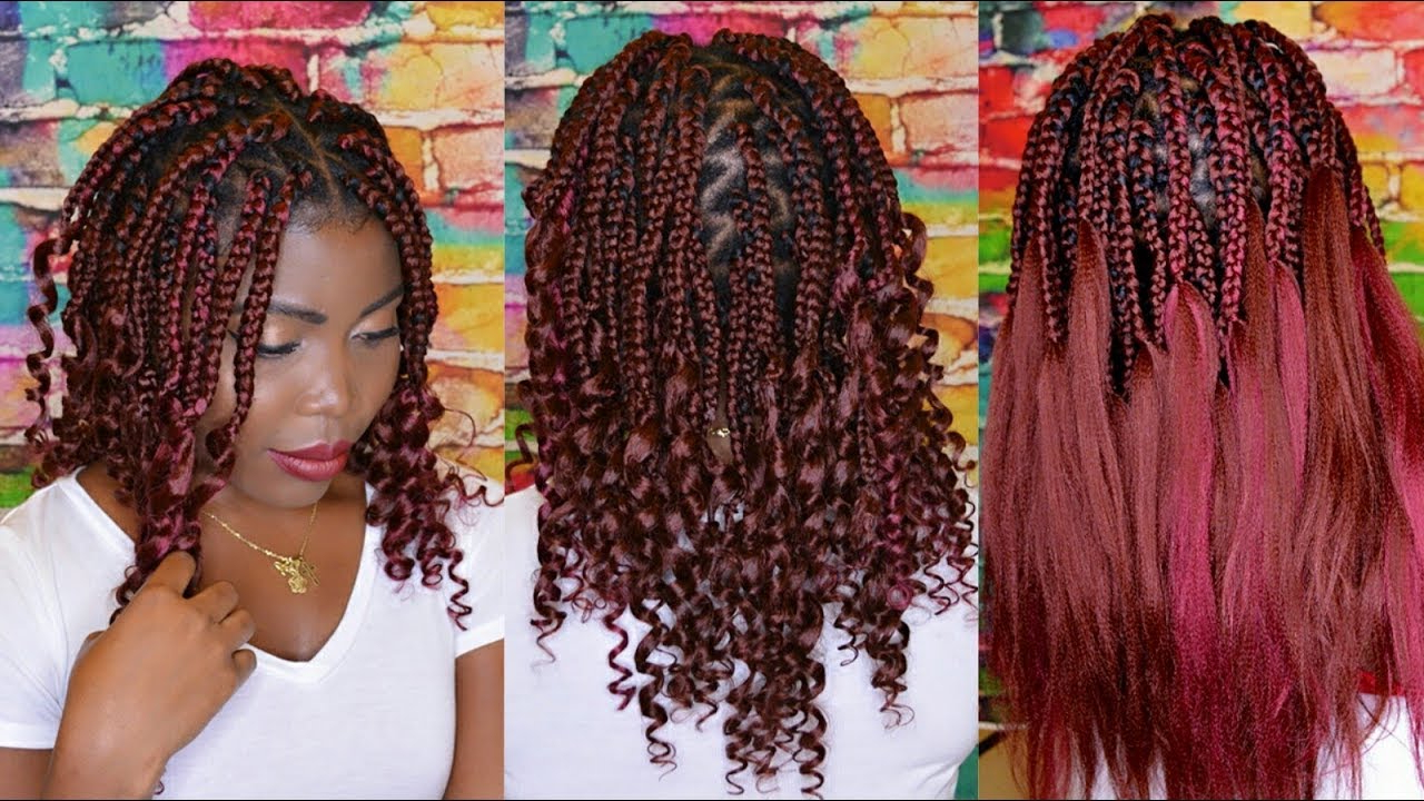 Vivian Beauty And Style In Most Recent Skinny Braid Hairstyles With Purple Ends (Gallery 14 of 20)
