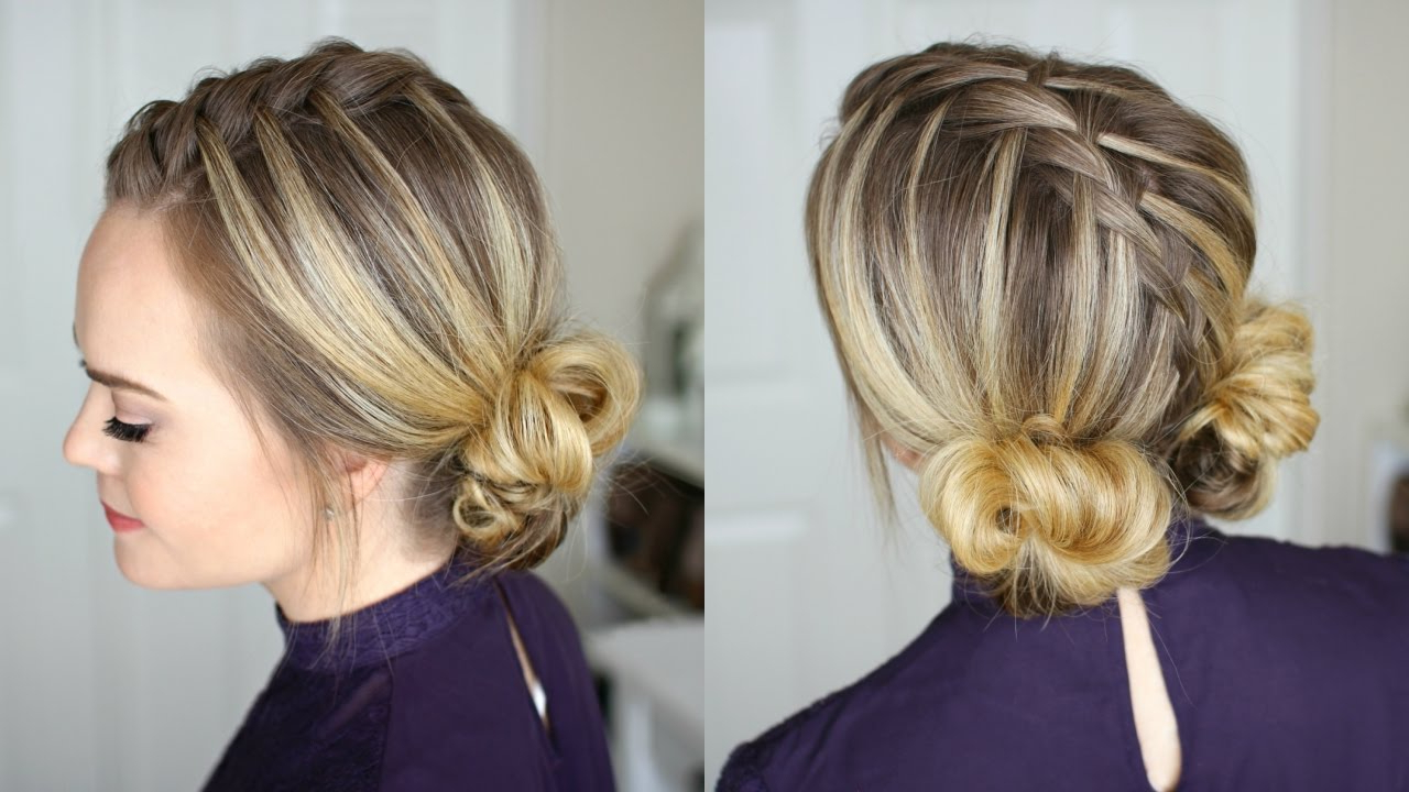 Waterfall Mohawk + Double Low Buns (Gallery 5 of 20)