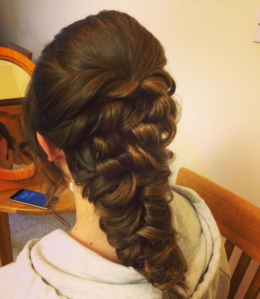 Wedding Hair Messy Mermaid Braid Updo (View 18 of 20)