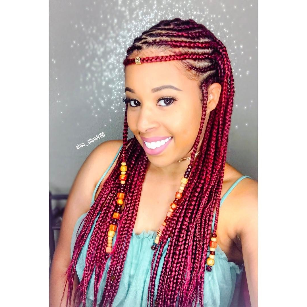Well Known Beaded Bangs Braided Hairstyles Throughout 12 Gorgeous Braided Hairstyles With Beads From Instagram (View 9 of 20)