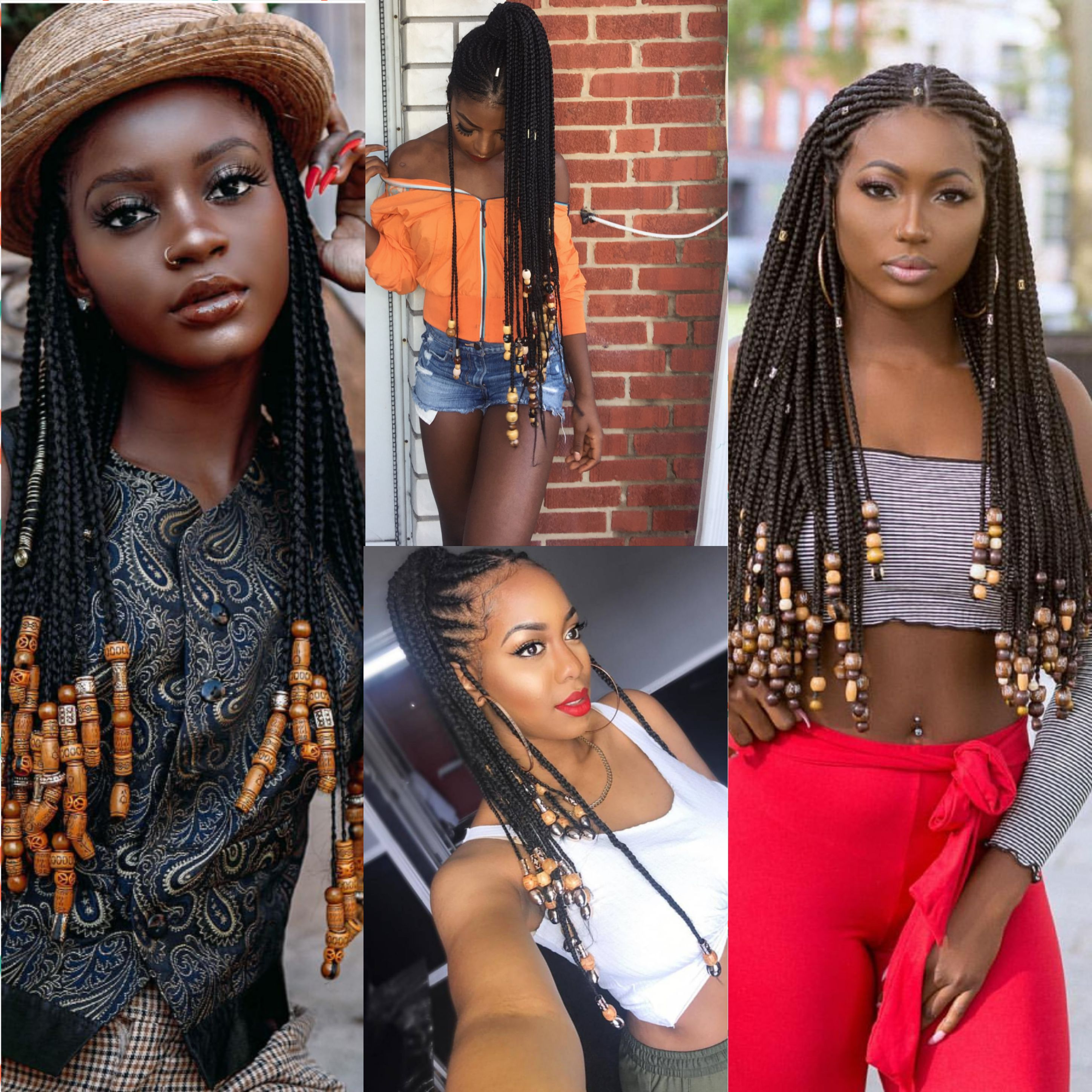 Well Known Box Braids And Beads Hairstyles With Regard To Beads And Braids: How To Add Beads To Braids Tutorial (Gallery 3 of 20)