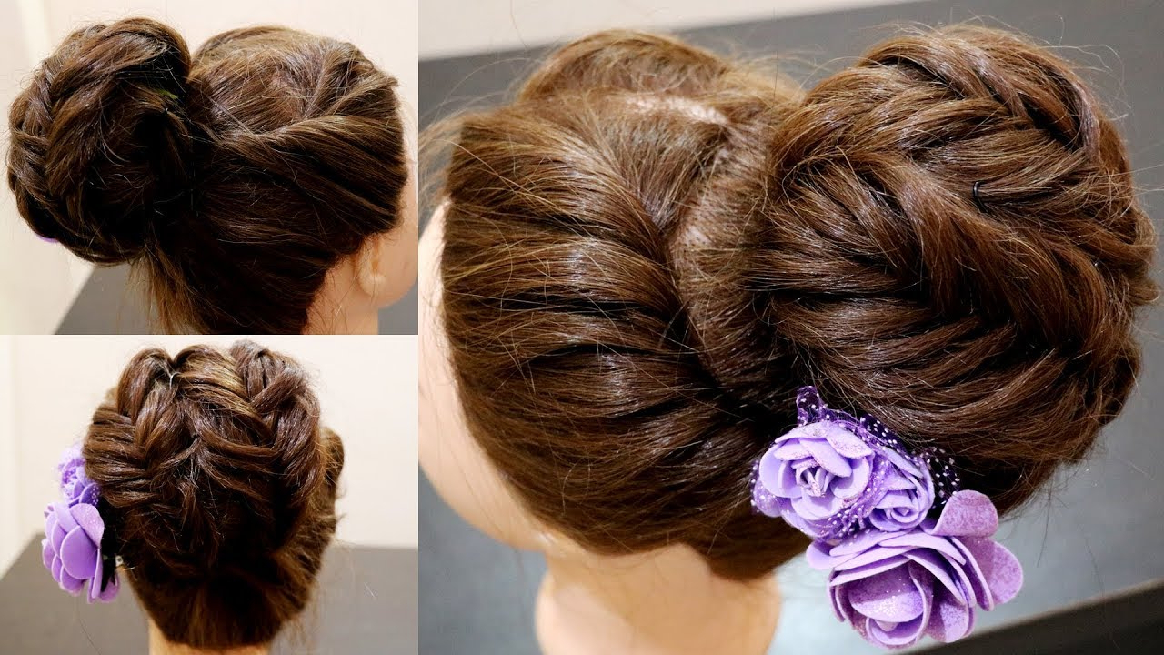 Well Known Braid Wrapped High Bun Hairstyles With Big Bun (View 20 of 20)