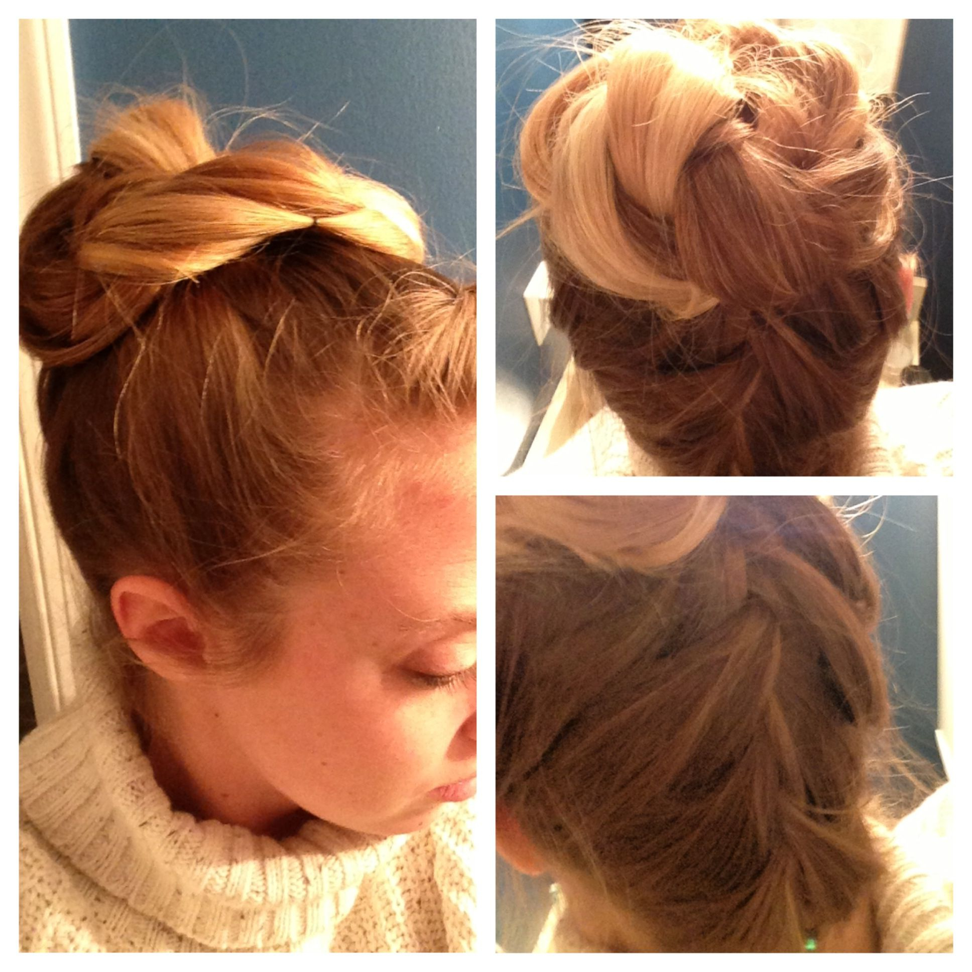 Well Known Braided Underside Hairstyles With Regard To Braid Underside Of Hair And Make Ponytail (View 11 of 20)