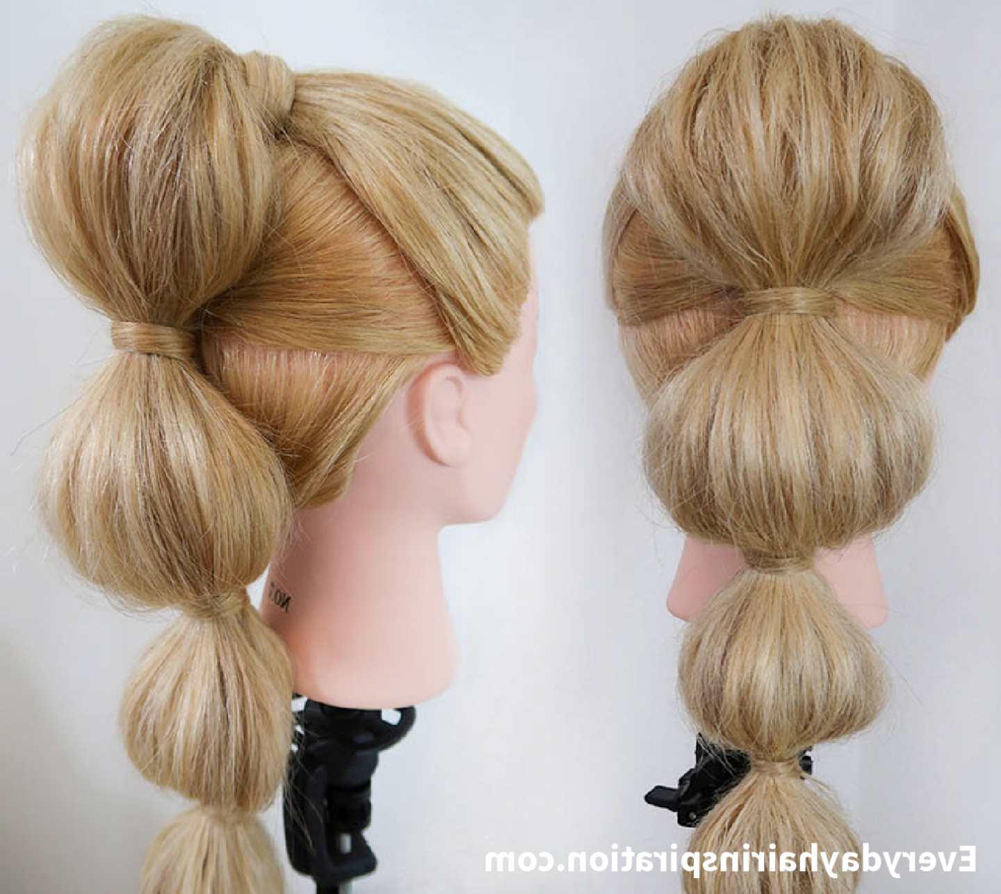 Well Known Bubble Pony Updo Hairstyles For Bubble Ponytail Stepstep – Everyday Hair Inspiration (Gallery 6 of 20)
