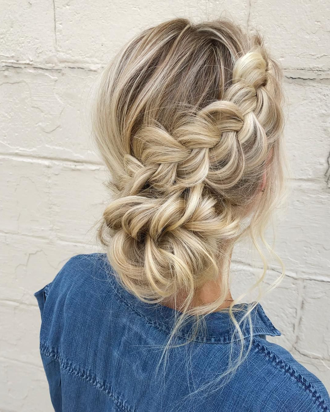 Well Known Chunky French Braid Chignon Hairstyles In Pin On Wedding Hairstyles (Gallery 4 of 20)