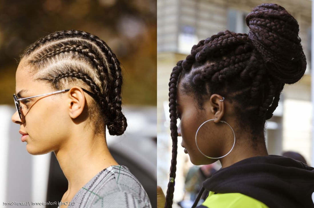Well Known Cornrows Tight Bun Under Braid Hairstyles In Braiding Natural Hair: Chunky Texture Or Ultra Tight? (View 6 of 20)