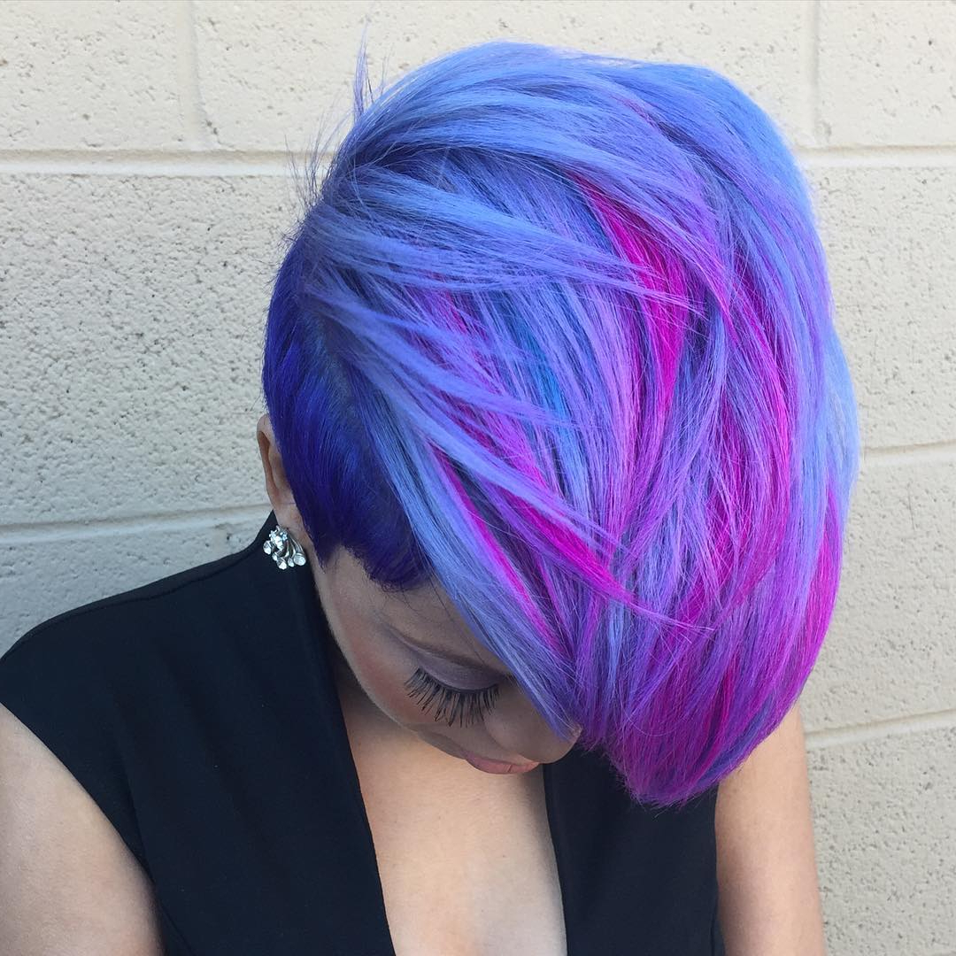 Well Known Cotton Candy Colors Blend Mermaid Braid Hairstyles With Regard To 20 Blue And Purple Hair Ideas (View 17 of 20)