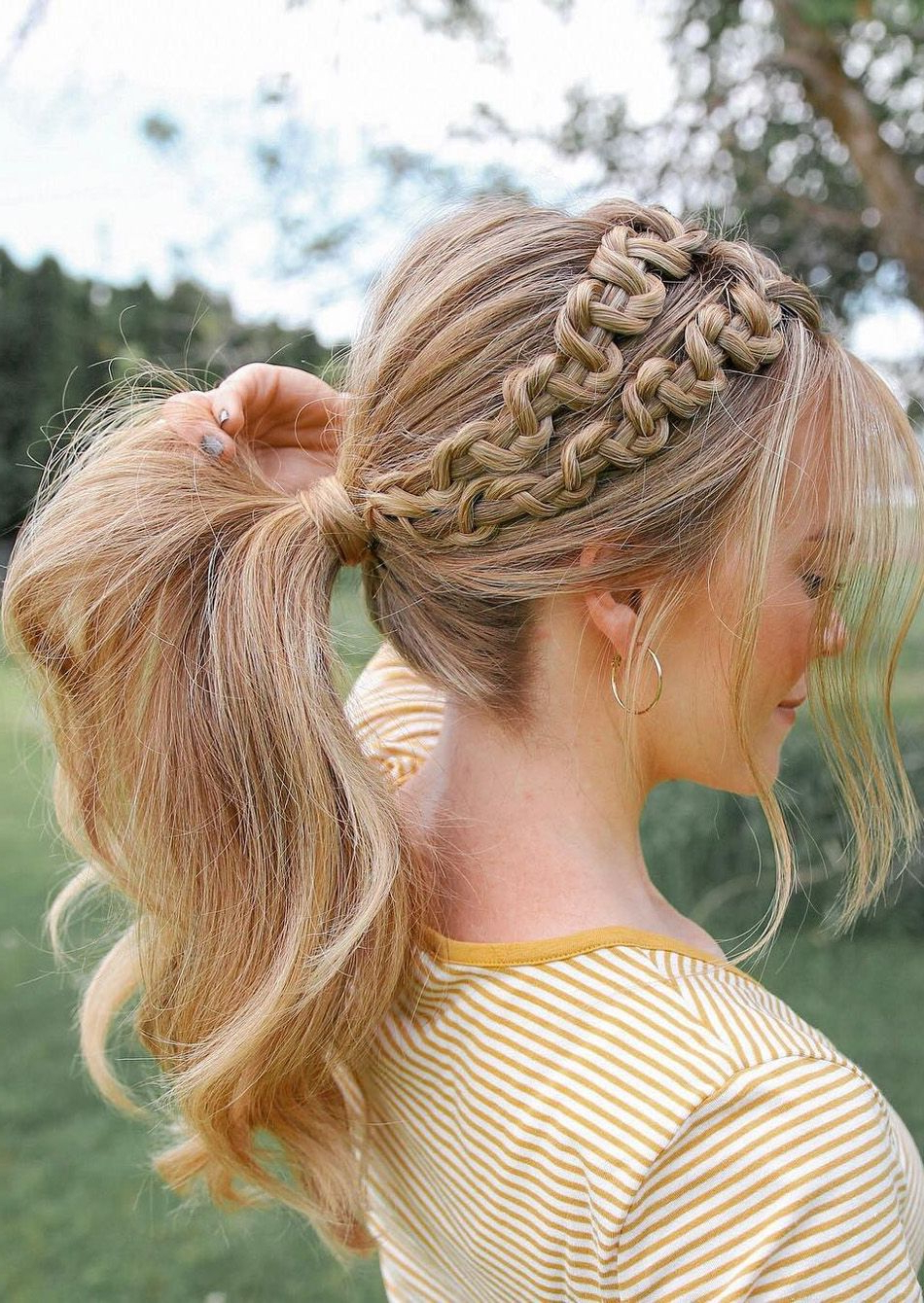 Well Known Double Rapunzel Side Rope Braid Hairstyles For Double Side Up Pony Braids Ideas (View 2 of 20)