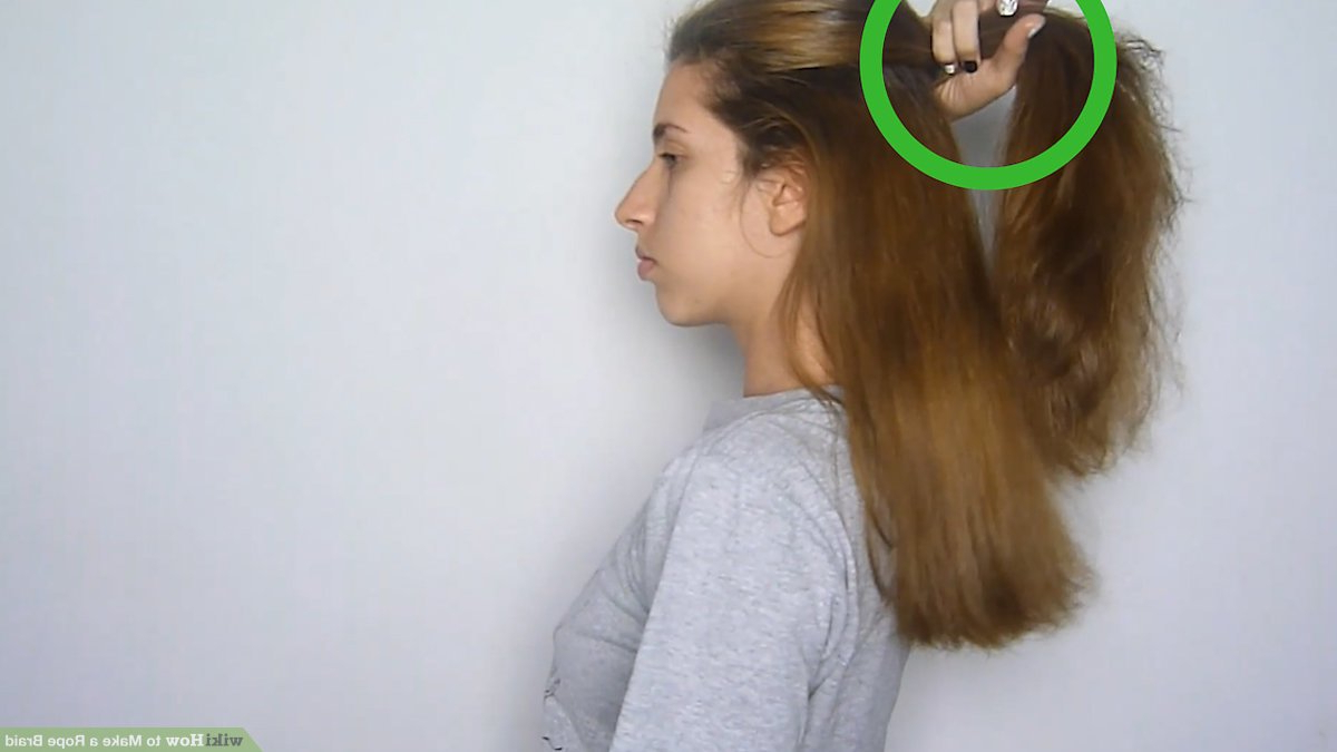 Well Known Easy French Rope Braid Hairstyles Pertaining To How To Make A Rope Braid: 12 Steps (With Pictures) – Wikihow (Gallery 18 of 20)