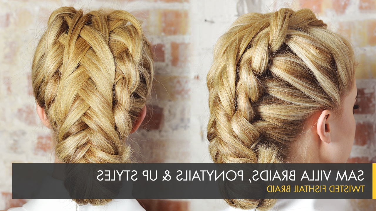 Well Known Fishtail Braid Pontyail Hairstyles For Twisted Fishtail Braid (View 18 of 20)