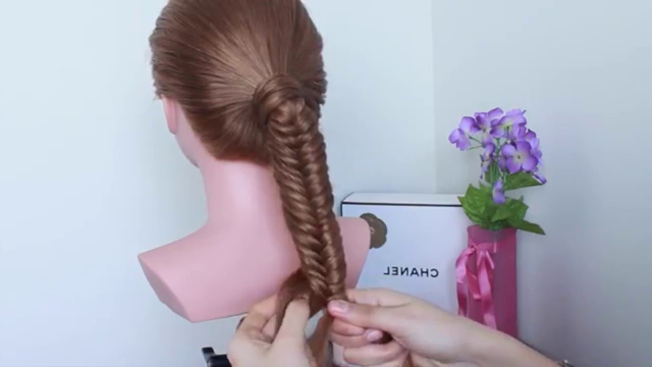 Well Known Fishtail Braid Pontyail Hairstyles With Regard To How To: Fishtail Braid Ponytail (View 10 of 20)